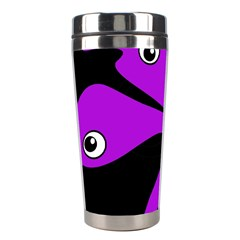 Purple Amoeba Stainless Steel Travel Tumblers by Valentinaart