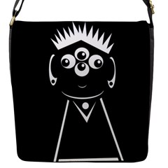 Black And White Voodoo Man Flap Messenger Bag (s) by Valentinaart