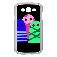 Three Monsters Samsung Galaxy Grand Duos I9082 Case (white) by Valentinaart