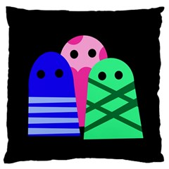 Three Monsters Standard Flano Cushion Case (two Sides) by Valentinaart