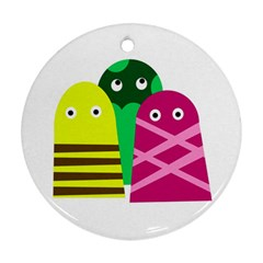 Three Mosters Ornament (round)  by Valentinaart
