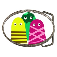 Three Mosters Belt Buckles by Valentinaart