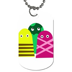 Three Mosters Dog Tag (one Side) by Valentinaart