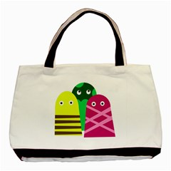 Three Mosters Basic Tote Bag by Valentinaart