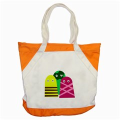 Three Mosters Accent Tote Bag by Valentinaart