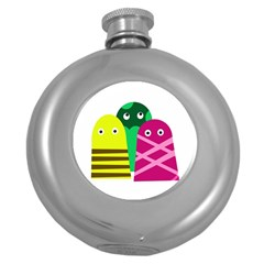 Three Mosters Round Hip Flask (5 Oz) by Valentinaart