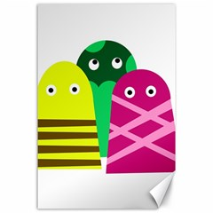 Three Mosters Canvas 24  X 36  by Valentinaart