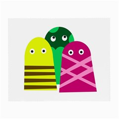 Three Mosters Small Glasses Cloth (2 Side) by Valentinaart