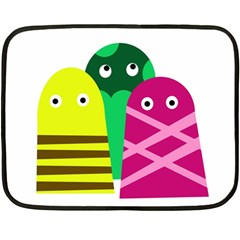 Three Mosters Double Sided Fleece Blanket (mini)  by Valentinaart