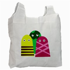 Three Mosters Recycle Bag (two Side)  by Valentinaart