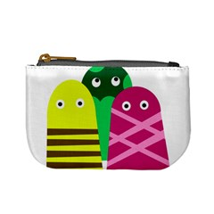 Three Mosters Mini Coin Purses by Valentinaart