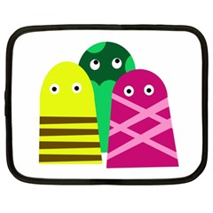 Three Mosters Netbook Case (xl)  by Valentinaart