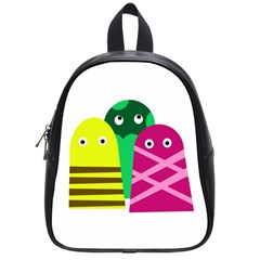 Three Mosters School Bags (small)  by Valentinaart