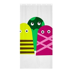 Three Mosters Shower Curtain 36  X 72  (stall)  by Valentinaart