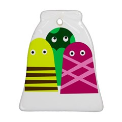 Three mosters Bell Ornament (2 Sides) by Valentinaart