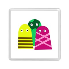 Three Mosters Memory Card Reader (square)  by Valentinaart