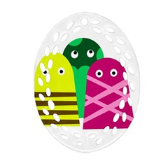 Three Mosters Oval Filigree Ornament (2 Side)  by Valentinaart