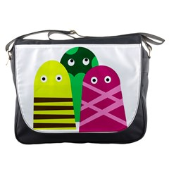 Three Mosters Messenger Bags by Valentinaart