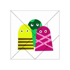 Three Mosters Acrylic Tangram Puzzle (4  X 4 ) by Valentinaart