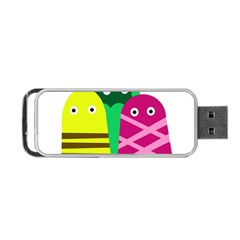 Three Mosters Portable Usb Flash (two Sides) by Valentinaart