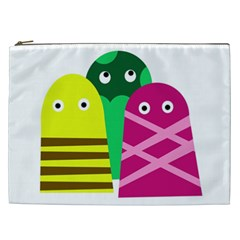 Three Mosters Cosmetic Bag (xxl)  by Valentinaart