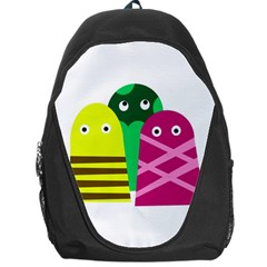 Three Mosters Backpack Bag by Valentinaart