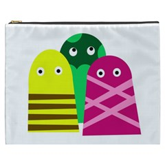 Three Mosters Cosmetic Bag (xxxl)  by Valentinaart