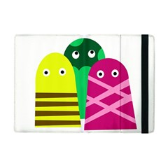 Three Mosters Apple Ipad Mini Flip Case by Valentinaart