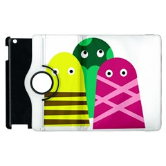 Three Mosters Apple Ipad 3/4 Flip 360 Case by Valentinaart