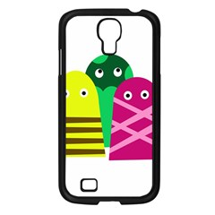 Three Mosters Samsung Galaxy S4 I9500/ I9505 Case (black) by Valentinaart