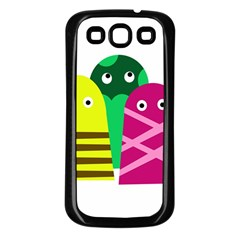 Three Mosters Samsung Galaxy S3 Back Case (black) by Valentinaart
