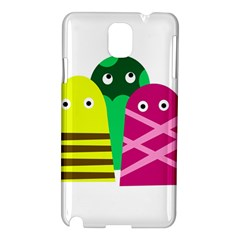 Three Mosters Samsung Galaxy Note 3 N9005 Hardshell Case by Valentinaart