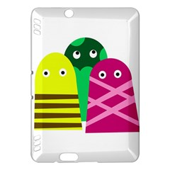 Three Mosters Kindle Fire Hdx Hardshell Case by Valentinaart