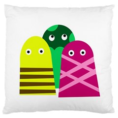 Three Mosters Large Flano Cushion Case (two Sides) by Valentinaart