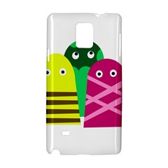 Three Mosters Samsung Galaxy Note 4 Hardshell Case by Valentinaart