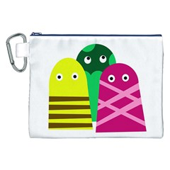 Three Mosters Canvas Cosmetic Bag (xxl) by Valentinaart