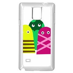 Three Mosters Samsung Galaxy Note 4 Case (white) by Valentinaart