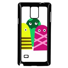 Three Mosters Samsung Galaxy Note 4 Case (black) by Valentinaart