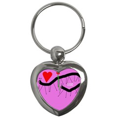Centipedes Key Chains (heart)  by Valentinaart