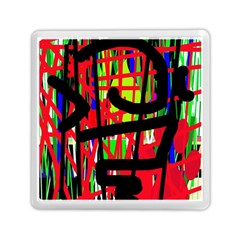Colorful Abstraction Memory Card Reader (square)  by Valentinaart