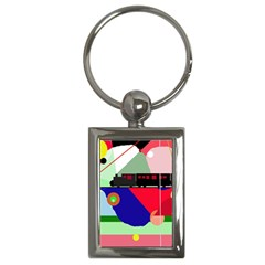 Abstract Train Key Chains (rectangle)  by Valentinaart