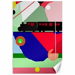 Abstract Train Canvas 12  X 18   by Valentinaart