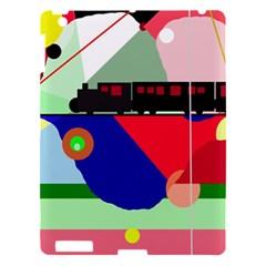 Abstract train Apple iPad 3/4 Hardshell Case