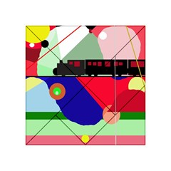 Abstract train Acrylic Tangram Puzzle (4  x 4 ) by Valentinaart