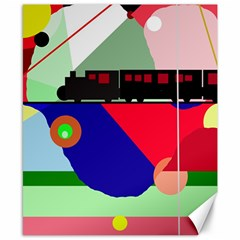 Abstract Train Canvas 8  X 10  by Valentinaart