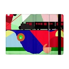 Abstract Train Apple Ipad Mini Flip Case by Valentinaart