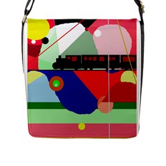 Abstract Train Flap Messenger Bag (l)  by Valentinaart