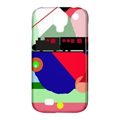 Abstract Train Samsung Galaxy S4 Classic Hardshell Case (pc+silicone) by Valentinaart