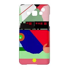Abstract Train Samsung Galaxy A5 Hardshell Case  by Valentinaart