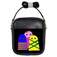 Three Monsters Girls Sling Bags